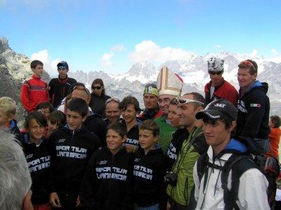 Santa messa alla Cima Giovanni Paolo II°