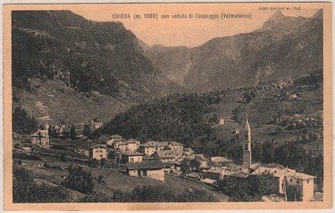 CHIESA IN VALMALENCO - con vista su caspoggio 1934