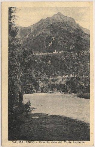 primolo dal ponte lanterna cartolina d'epoca